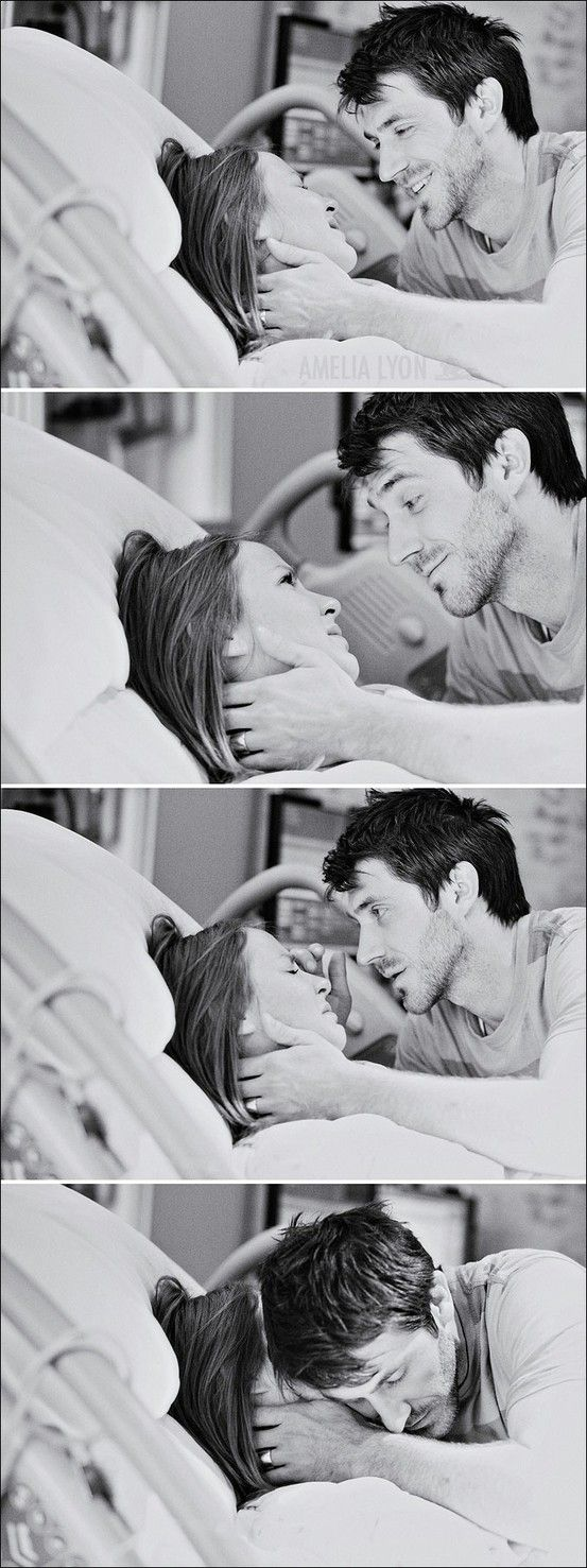 a husband with his wife during labor. This. Is. Beautiful. I have a couple pics of my husband with me while I was suffering... in labor and my kids... love those pics. They want to know who was being born that day.