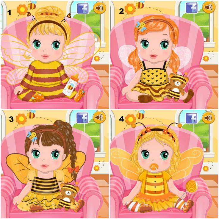 Baby Bonnie Bumble Bee  http://www.enjoydressup.com/baby-games/baby-bonnie-bumble-bee-8078.html