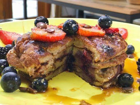 Desayuno Saludable-HOT CAKES/PANCAKES! Rico, Fácil y con Pocos Ingredientes - YouTube