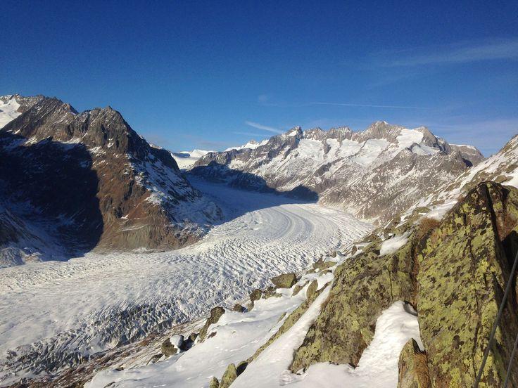 #aletschgletscher #berge #blauer himmel #gletscher #gletscherspalte #himmel #riederalp #schnee