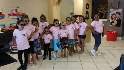 "Get ""Pink Ladies"" shirts made for Grease theme party!"