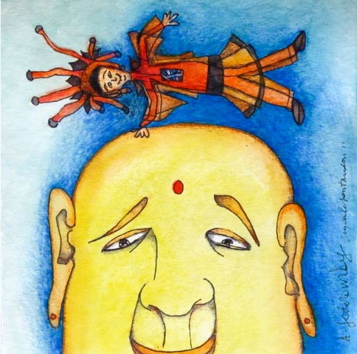 La Esencia y El Ego: La Esencia debe educar al ego, hacerlo transparente como luna que refleja la luz del sol. El ego es el perro, la Esencia es el amo.