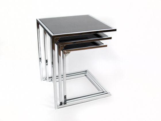 mesa nido cristal negro