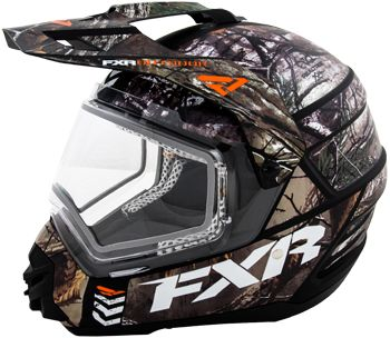 FXR TORQUE X CAMO HELMET w/DUAL LENS SHIELD (2015).  $149.99.  http://www.upnorthsports.com/snowmobile/snowmobile-helmets/snocross-snowmobile-helmets/fxr-torque-x-camo-helmet-w-dual-lens-shield-2015.html ............. Also available in Electric Shield for $219.99!  http://www.upnorthsports.com/snowmobile/snowmobile-helmets/snocross-snowmobile-helmets/fxr-torque-x-camo-helmet-w-electric-shield-2015.html
