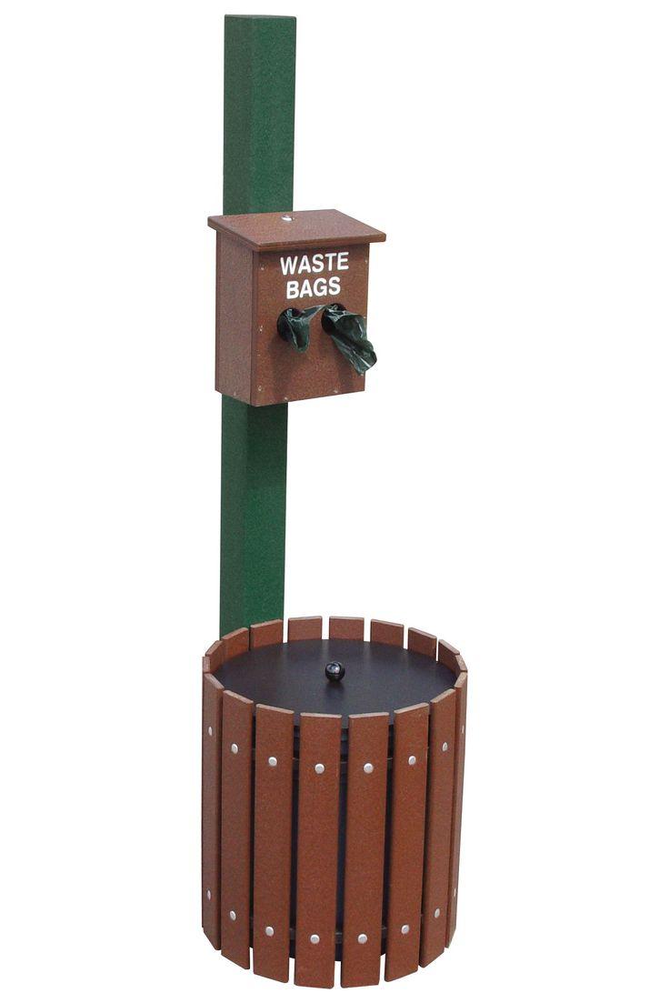 Dog Waste Station with 10 Gallon Bin Dog waste station