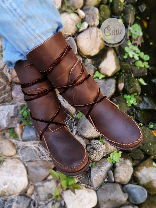 Moccasin Moccasins Moccasin Boots Leather by HolyCowproducts