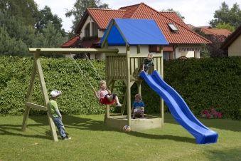 Spielanlage / Spielturm mit Schaukel und Sandkasten Noah 350x190x296cm