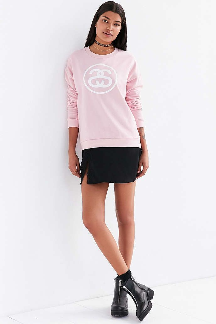 Stussy Logo link pullover sweater, medium $65, URBAN OUTFITTERS