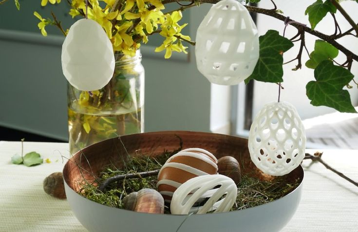 5 super easy-to-make Easter egg decorations you can 3D model at home