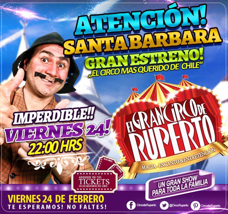 ATENCIÓN QUERIDOS AMIGOS DE SANTA BARBARA!! ESTE VIERNES!! GRAN ESTRENO!! 22:00 HRS