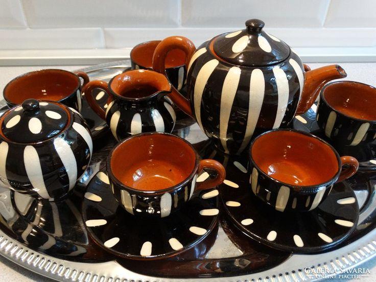 Retro kávés készlet, kerámia
