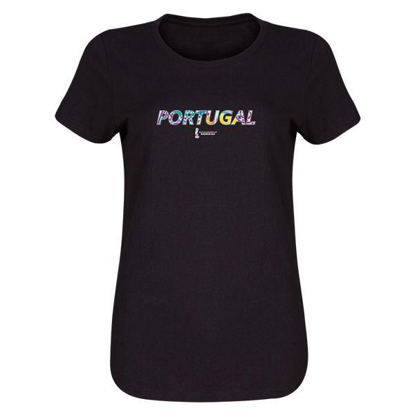 FIFA Beach World Cup Bahamas 2017 Portugal Womens T-Shirt (Black)