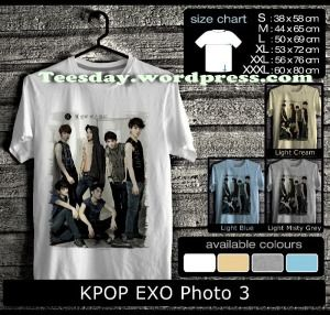 Kaos EXO Kpop Terbaru, Kaos EXO Indonesia Fans
