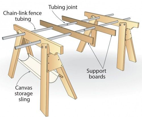 Click To Enlarge - A collapsible work support made entirely of scrap