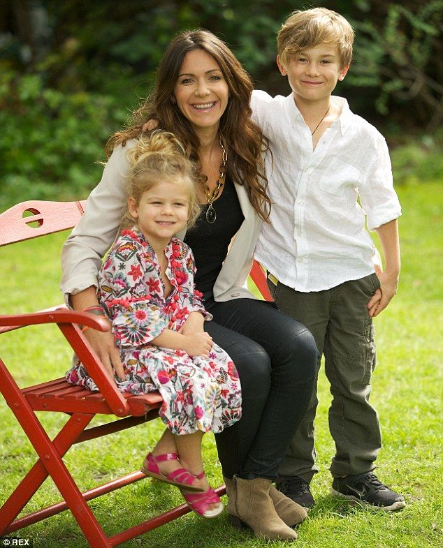 Still learning: The widow of Spartacus star Andy Whitfield, Vashti, has told how she is  battling to create a life without her husband three years after his death as she focuses on their two children Jesse and Indigo