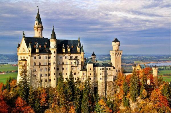 Castle Neuschwanstein in Bavaria, Germany in autumn. By gerdragon: Sleep Beautiful, Buckets Lists, Castles Neuschwanstein, Disney Castles, Neuschwanstein Castles, Travel, Places, Bavaria Germany, Fairies Tales