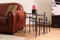 Tavolini stile ferro battuto e vetro temperato FLORENCE - http://www.siboom.it/confronta-prezzi-arredamento_c137914.html
