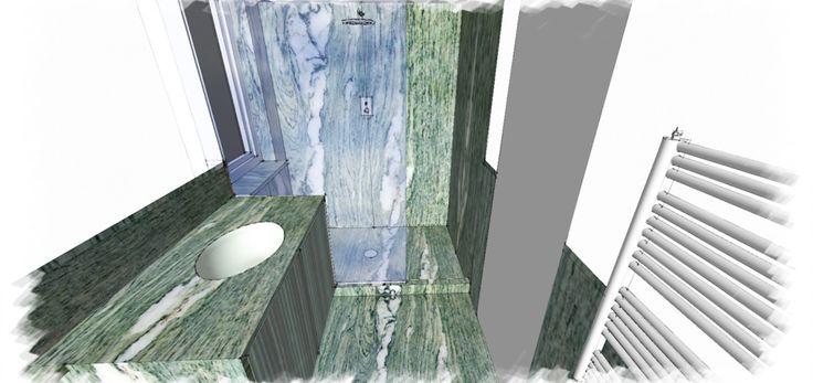 0001 progetto doccia in marmo cipollino apuano
