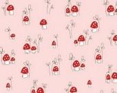Little mushrooms in pink - Riley Blake Designs