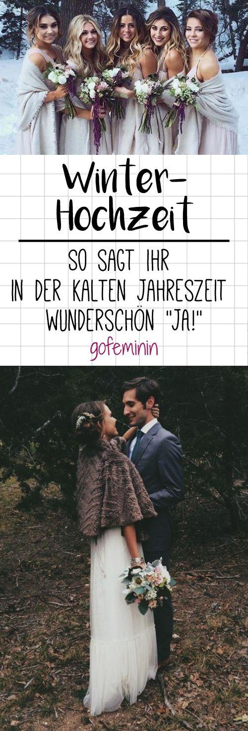 """Heiraten im Winter: So sagt ihr in der kalten Jahreszeit wunderschön """"JA!"""""""