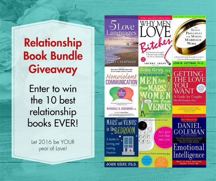 Win the 10 BEST relationship books EVER. (Let 2016 be YOUR year of Love!) http://www.howtogetmoremetime.com/giveaways/relationship-book-bundle/?lucky=373