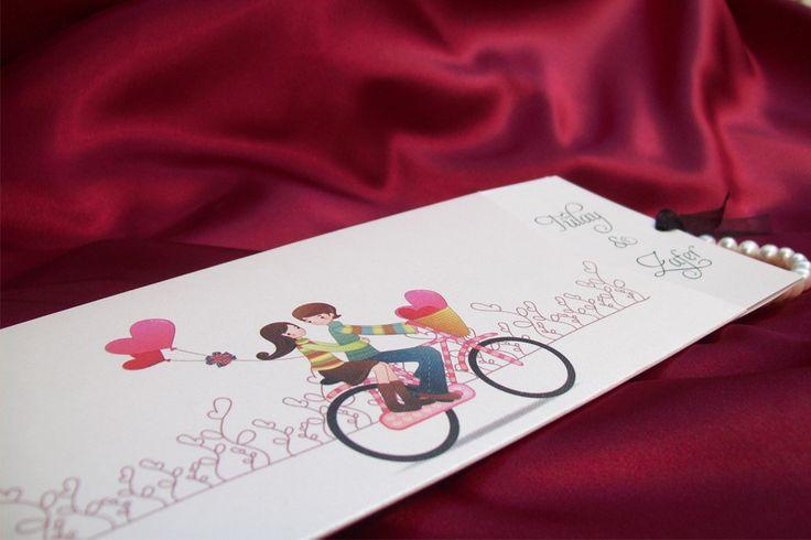 """wedding innivation, """"masal davetiye 1002""""  bike and balls http://www.davetiyemarkalari.com/masal-davetiye-1002.html"""