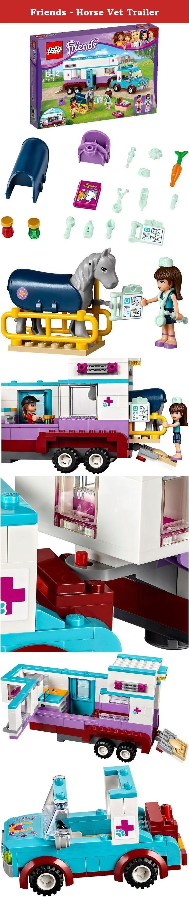 Friends - Horse Vet Trailer. LEGO 41125 Friends Horse Vet Trailer Construction Set.