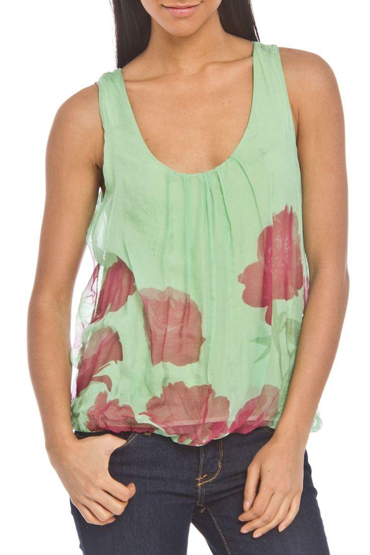 Angela Mara Jane Top in Green - Beyond the Rack $49.99