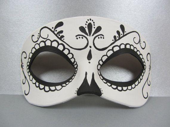 Jour du tourbillon de mort noir et blanc en cuir masque, unisexe                                                                                                                                                                                 Plus