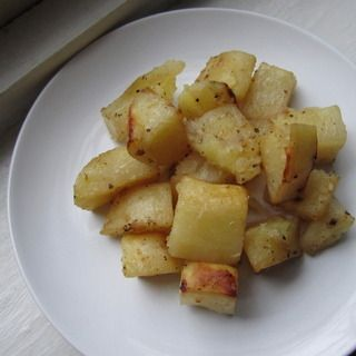 Roasted Greek Lemon Potatoes - healthy, easy, and amazingly delicious!!  I have constant cravings for them!