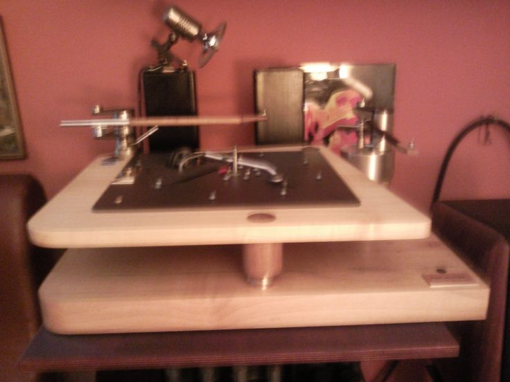 PTP Lenco L75 two Schroeder SQ Reference tonearms