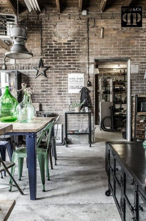 Industrial Interior Get The Look At Mix Industrial Style