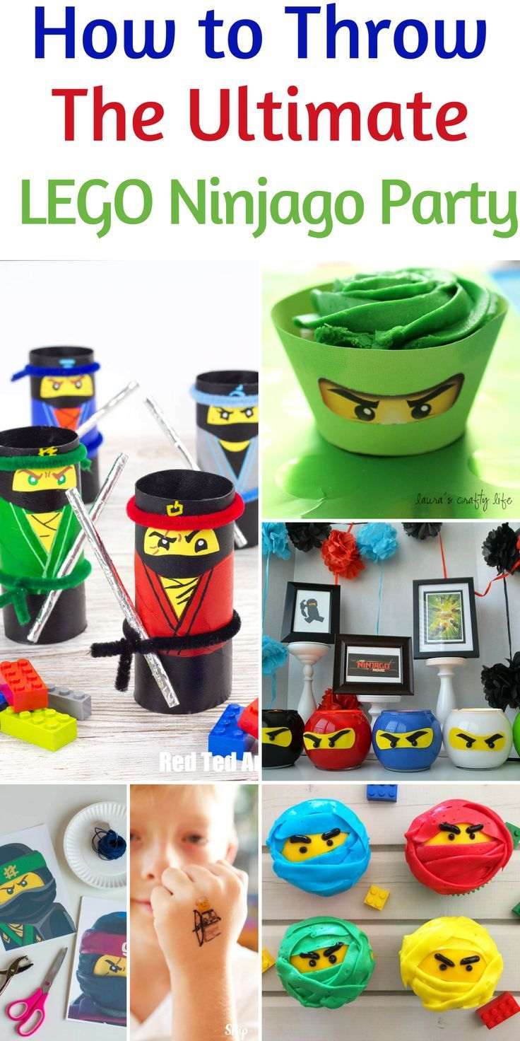 How to Throw the Ultimate Lego Ninjago Party! Don't miss our tips for a great Lego Birthday Party idea! Great Lego crafts, Lego treats, and fun party tips are all perfect for your upcoming birthday party! #Lego #LegoParty #BirthdayParty