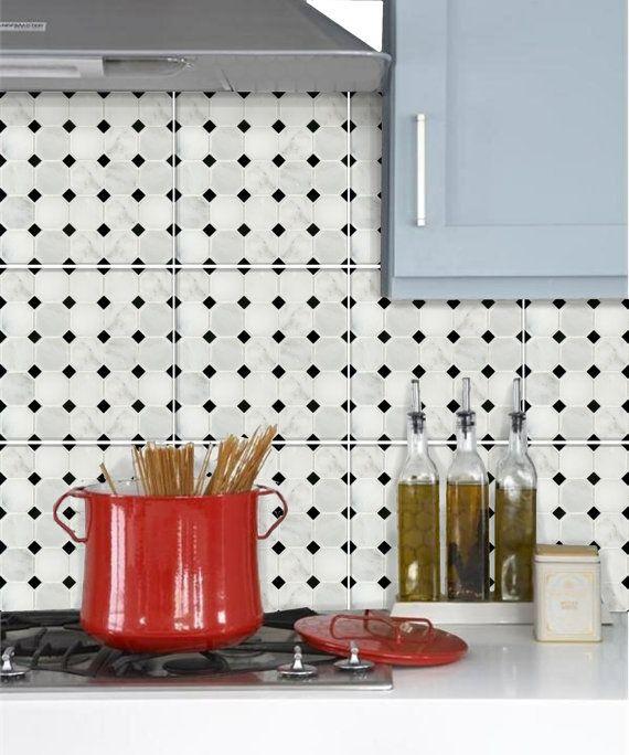 add a splash of colour to kitchen backsplash or spice up your staircase riser or a - Tijdelijke Backsplash