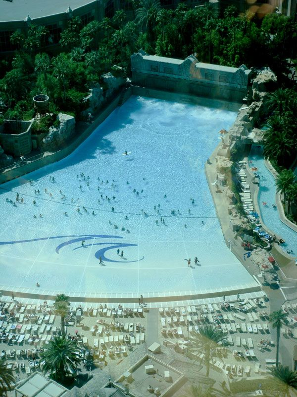The wave pool at the Mandalay Bay Resort and Casino.