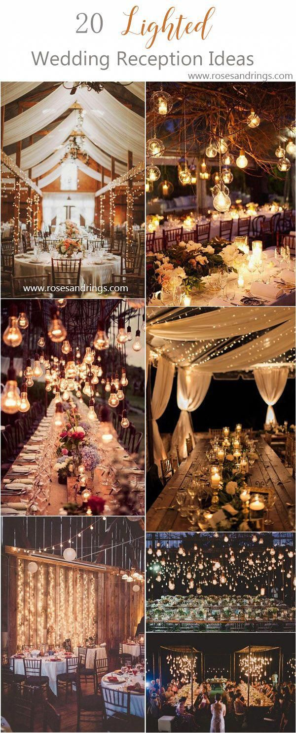 rustic country wedding reception lighting ideas  #weddings #countrywedding#weddi…