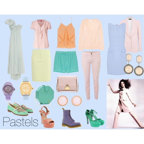 pastels, created by ashlips33 on Polyvore