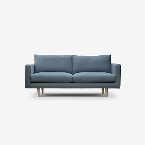 With its Scandinavian look and feel, the Charlie's inviting design is a  natural fit in any interior.  A combination of superior build and practical, feather-fibre mixed-back  cushions, the Charlie is not only wonderfully comfy; it also has the  strength to last for years.  Available in two seat depths and a variety of leg stains, the Charlie was  born to take pride of place.  All Staple&Co sofas are made to order in Sydney and pricing is based on  specific size and fabric ...