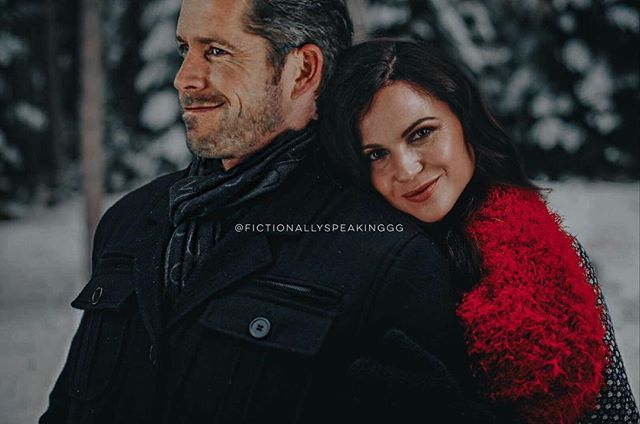 Nothing gets me like an #OutlawQueen Christmas edit. (Credit to @fictionallyspeakinggg)