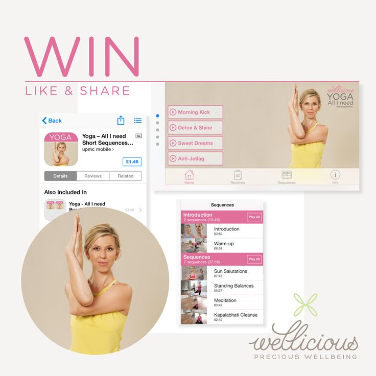 Win your Wellicious 'Yoga-All I need App'  Roll out your yoga mat and get ready to exercise! Simply like & share this post and take the chance to win one of our 3 'Wellicious Yoga- All I need' App voucher codes. 'Yoga-All I need' is devised by our amazing Wellicious ambassador Gabriela Bozic.  The perfect yoga programme for a modern lifestyle. So be quick! Like & Share to enjoy your personal yoga class when – and wherever you chose.