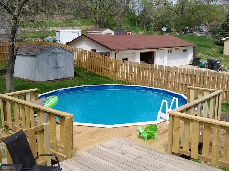 how to build a swimming pool deck