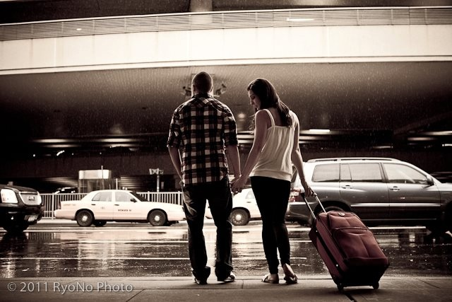 our airport engagement pictures w/ RyoNo Photo