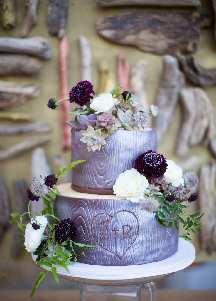 Tree-Themed Wedding Cake
