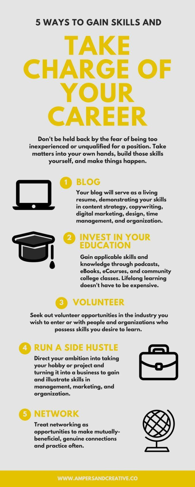5 Ways To Gain Skills And Take Charge Of Your Career