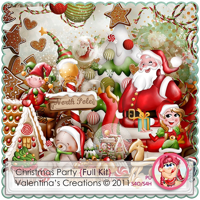 Christmas Party {Kit} by Valentina's Creations