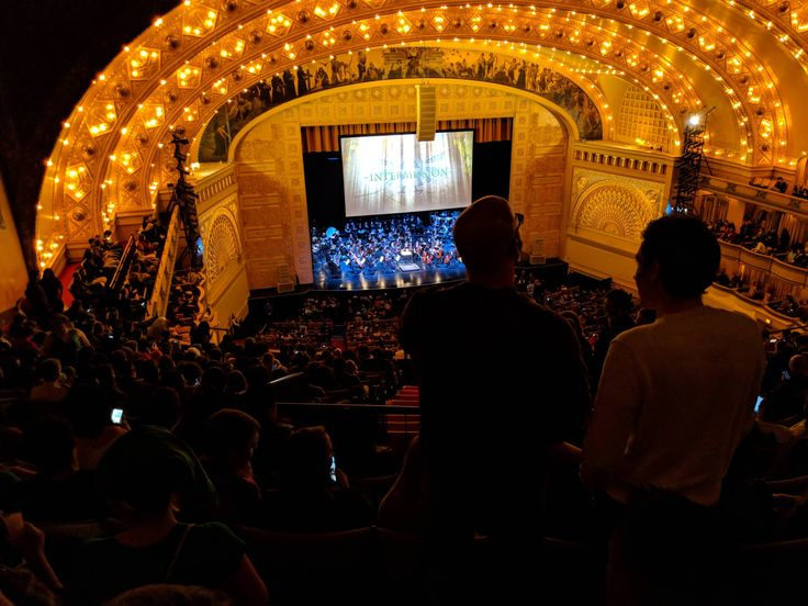 Auditorium Theater in Chicago almost sold out. Zelda: Symphony of the Goddesses. AMAZING. Visit blazezelda.tumblr.com