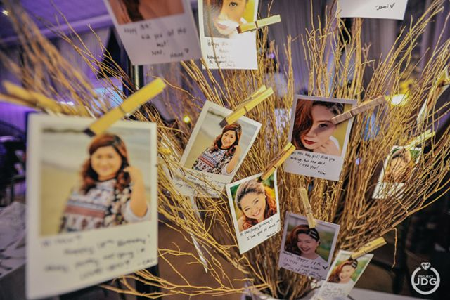 Instead of a guestbook, guests can write on photos and hang them on a wishing tree. | www.mydebut.ph