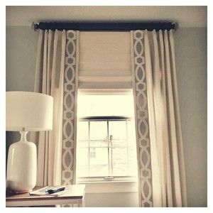 Linen Panels With Tape Trim Bedroom Curtains With Blinds