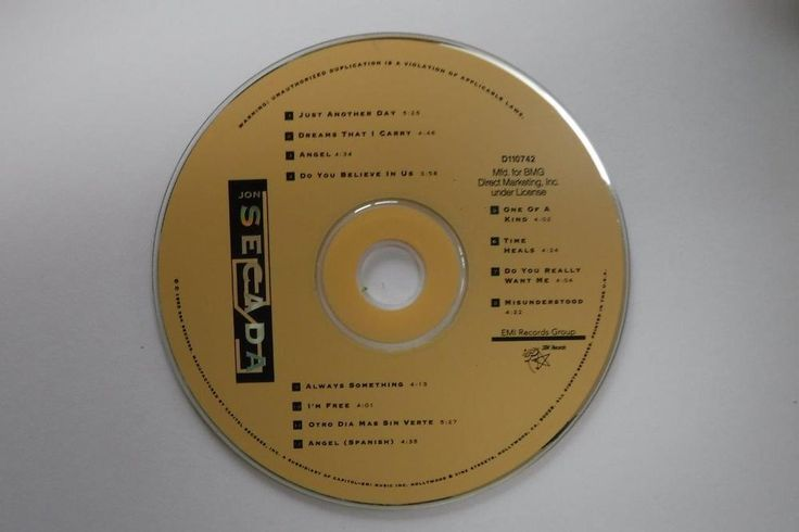Jon Secada - Jon Secada / 1992 / SBK / CD / Disc Only! #Latin
