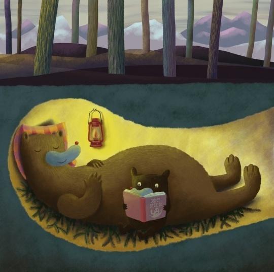 Hibernation Time by Nikko Barber     Cute Animal Artworks